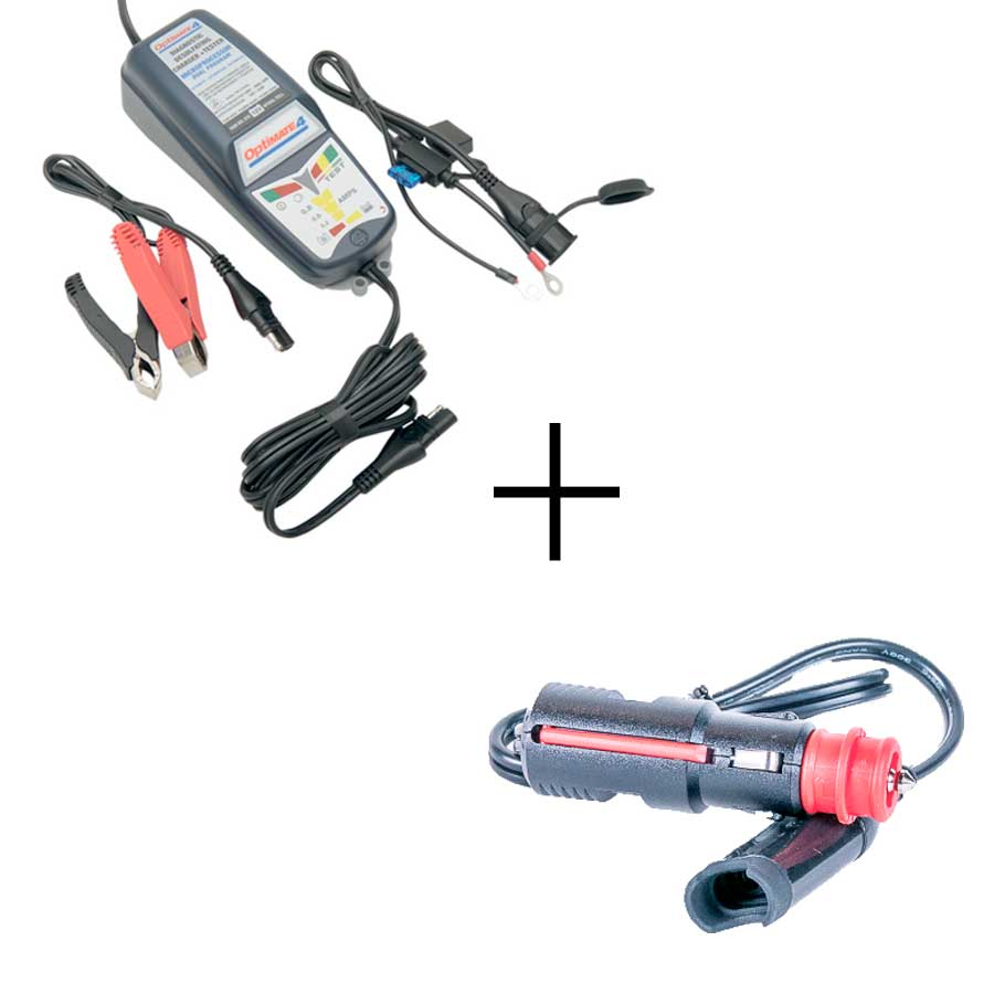BMW motorcycle combo - OptiMATE 4 + 12V canbus connector - Optimate Battery  Charger Shop